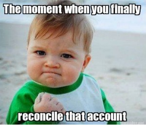 reconcile that account